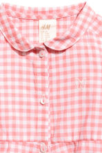 Cotton dress - Pink/Checked - Kids | H&M CN 2