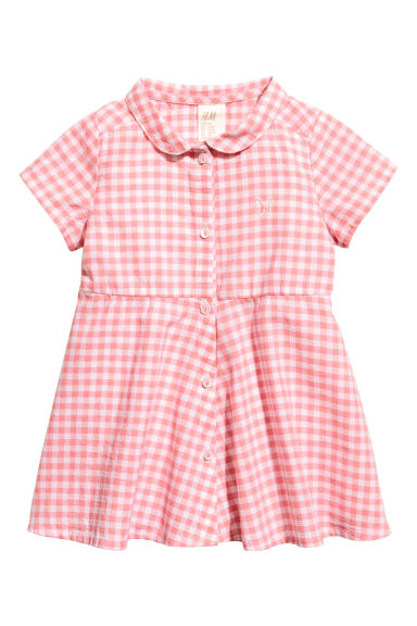 棉質洋裝 - Pink/Checked -  | H&M 1