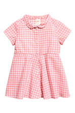 Cotton dress - Pink/Checked - Kids | H&M CN 1