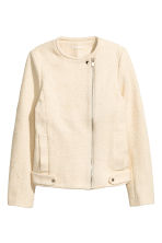 Textured biker jacket - Natural white -  | H&M 2