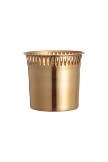 Mini metal plant pot