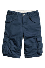 Knee-length cargo shorts - Dark blue - Kids | H&M CA 2