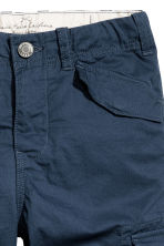 Knee-length cargo shorts - Dark blue - Kids | H&M CA 3