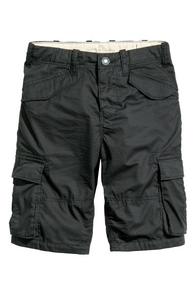 Knee-length cargo shorts - Black - Kids | H&M 1