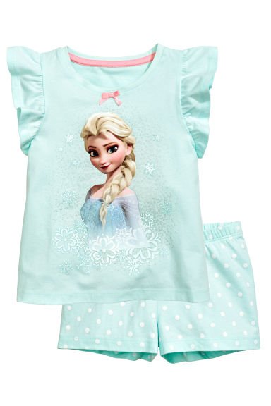 Jersey pyjamas - Mint green/Frozen - Kids | H&M CN 1