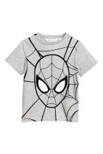 Printed T-shirt - Grey/Spiderman -  | H&M CN 2