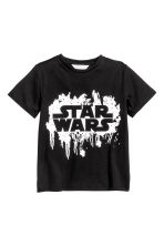 圖案T恤 - Black/Star Wars -  | H&M 2