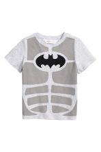 Printed T-shirt - Light grey/Batman -  | H&M CN 2