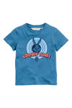 Printed T-shirt - Blue/Looney Tunes - Kids | H&M 2