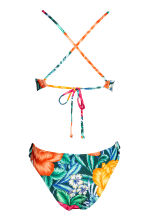 Swimsuit with frills - Dark green/Floral -  | H&M CN 3