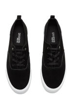 Suede platform trainers - Black - Ladies | H&M CN 3