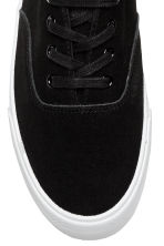 Sneakers in pelle scamosciata - Nero - DONNA | H&M IT 4