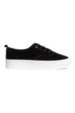 Suede platform trainers - Black - Ladies | H&M CN 2
