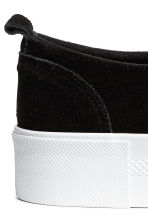 Sneakers in pelle scamosciata - Nero - DONNA | H&M IT 5