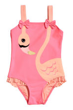 Swimsuit with bows - Pink/Flamingo - Kids | H&M 1