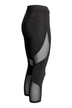 3/4-length running tights - Black - Ladies | H&M CN 3