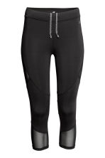 3/4-length running tights - Black - Ladies | H&M CN 2