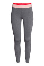 Sports tights - Dark grey marl -  | H&M 2