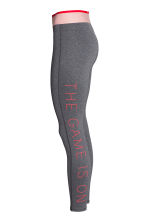 Sports tights - Dark grey marl -  | H&M 3