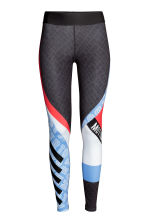Sports tights - Dark grey/Patterned -  | H&M 2