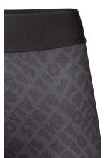 Sports tights - Dark grey/Patterned - Ladies | H&M 4