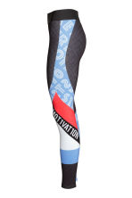 Sports tights - Dark grey/Patterned -  | H&M 3