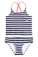 Striped tankini - Dark blue/Striped - Kids | H&M 1