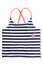 Striped tankini - Dark blue/Striped - Kids | H&M 2
