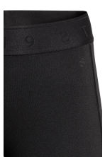Knee-length sports tights - Black - Ladies | H&M CN 3