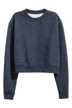 Short sweatshirt - Dark blue marl - Ladies | H&M CN 2