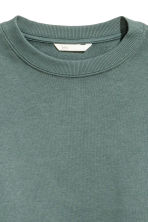 Short sweatshirt - Dark green - Ladies | H&M CN 3