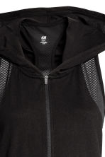 Sports top with a hood - Black - Ladies | H&M 4
