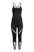 Yoga jumpsuit - Black - Ladies | H&M 2