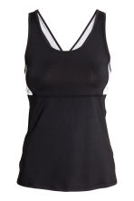 Running top - Black/Grey marl - Ladies | H&M 2