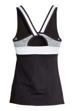 Running top - Black/Grey marl - Ladies | H&M 3