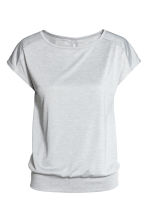 Sports top - Light grey marl - Ladies | H&M CN 2