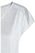 Sports top - Light grey marl - Ladies | H&M CN 3