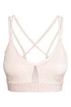Sports bra Medium support - Powder - Ladies | H&M 2