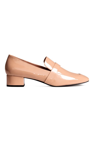 Patent loafers - Powder beige - Ladies | H&M CN