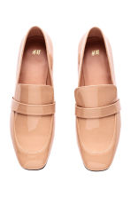 Patent loafers - Powder beige - Ladies | H&M 2