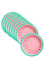 10-pack paper plates - Watermelon - Home All | H&M GB 2