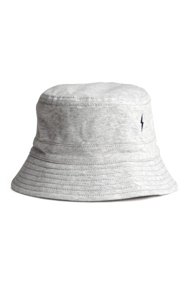 Cotton fisherman's hat - Grey marl - Kids | H&M CN 1