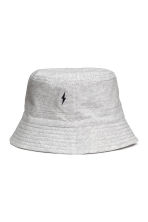 Cotton fisherman's hat - Grey marl - Kids | H&M CN 2