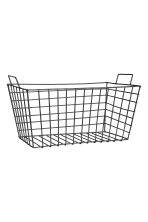Large metal wire basket - Black - Home All | H&M CN 1