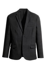 Viscose-blend twill jacket - Black - Men | H&M CN 2
