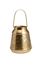 Metal candle lantern - Gold - Home All | H&M CN 2