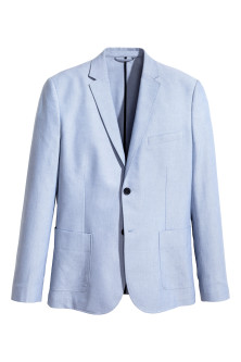 Blazer chambray Coupe amincie