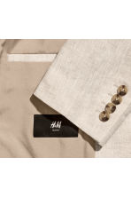 Linen jacket Slim fit - Natural white - Men | H&M 3