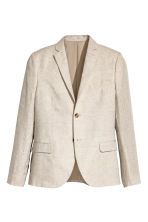 Linen jacket Slim fit - Natural white - Men | H&M CN 2