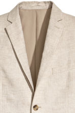 Linen jacket Slim fit - Natural white - Men | H&M 4